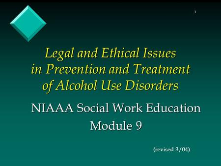 NIAAA Social Work Education Module 9
