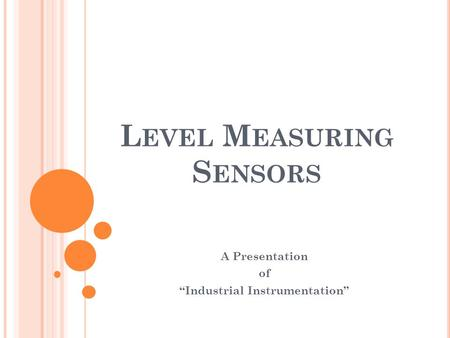 Level Measuring Sensors