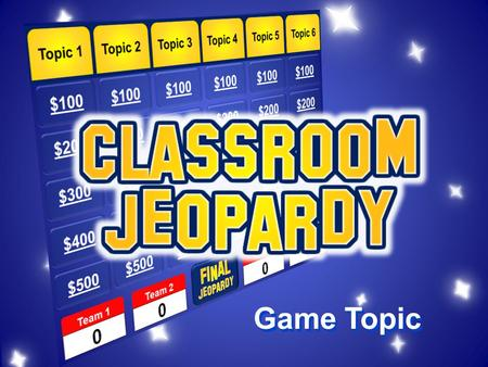 Game Topic Figures $100 $200 $300 $400 $500 EventsEssaysSourcesTermsMisc. Team 1Team 2Team 3Team 4 $200.