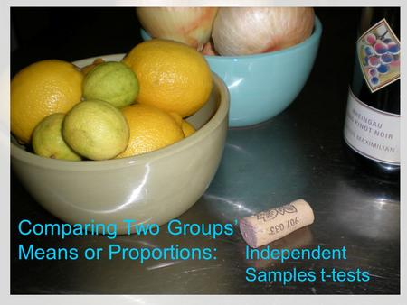 Comparing Two Groups' Means or Proportions: Independent Samples t-tests.