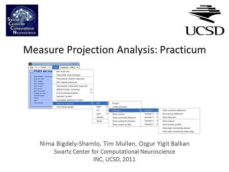 Measure Projection Analysis: Practicum