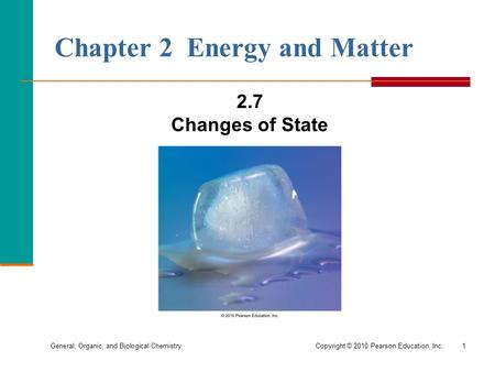 Chapter 2 Energy and Matter