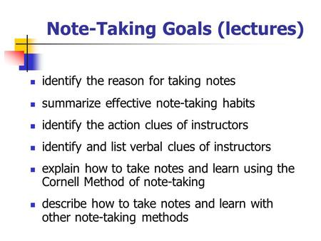 how to take reading notes in university