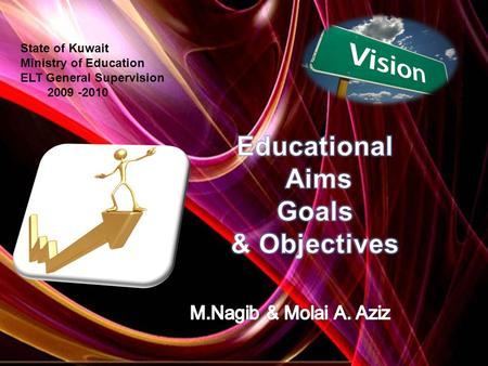State of Kuwait Ministry of Education ELT General Supervision 2009 -2010.