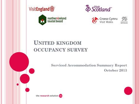 U NITED KINGDOM OCCUPANCY SURVEY Serviced Accommodation Summary Report October 2013 the research solution.