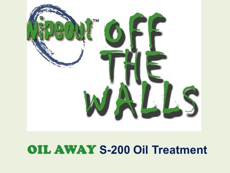 "OIL AWAY S-200 Oil Treatment. One Month Old Oil Spill On Concrete - Section 1 Oil is ½ "" thick in some areas."