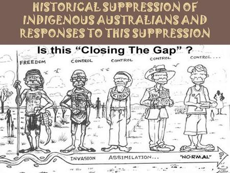 HISTORICAL SUPPRESSION OF INDIGENOUS AUSTRALIANS AND RESPONSES TO THIS SUPPRESSION.