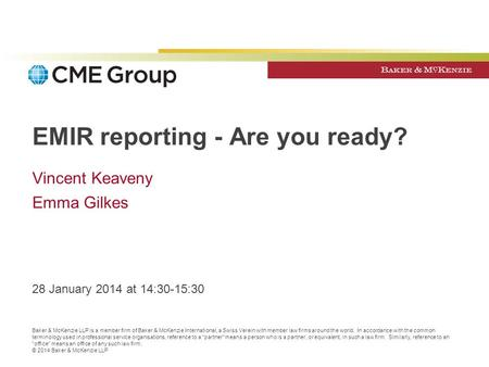 EMIR reporting - Are you ready?