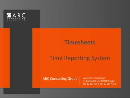Timesheets Time Reporting System. Web-based application supporting the process of time reporting. Offered in SaaS model (Software as a Service) or standard.