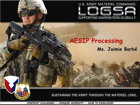 AESIP Processing Ms. Jaimie Barbé.