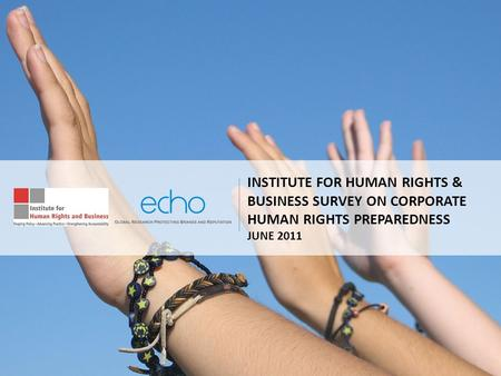 INSTITUTE FOR HUMAN RIGHTS & BUSINESS SURVEY ON CORPORATE HUMAN RIGHTS PREPAREDNESS JUNE 2011.