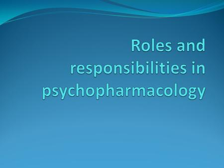 Role of the nurse in administration and safe administration PRN medication Legal and ethical aspects of medication administration Role of the multidisciplinary.