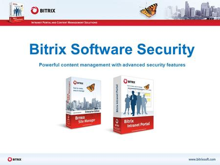 Bitrix Software Security Powerful content management with advanced security features.