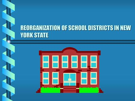 REORGANIZATION OF SCHOOL DISTRICTS IN NEW YORK STATE.