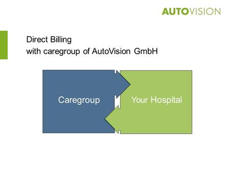Direct Billing with caregroup of AutoVision GmbH Your Hospital Caregroup Your Hospital.
