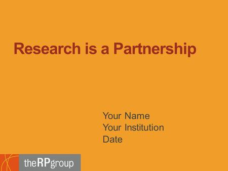 Bridging Research, Information and Culture An Initiative of the Research and Planning Group for California Community Colleges Your Name Your Institution.