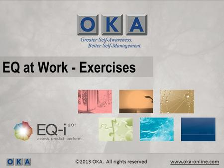 EQ at Work - Exercises ©2013 OKA. All rights reserved www.oka-online.com.