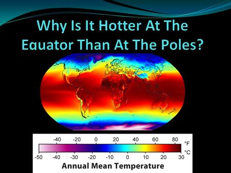 Why Is It Hotter At The Equator Than At The Poles?