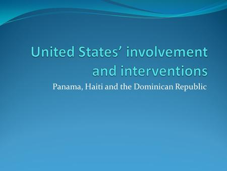 Panama, Haiti and the Dominican Republic. Spot six differences between the two drawings.