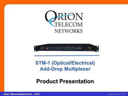 STM-1 (Optical/Electrical)