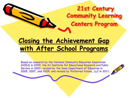 21st Century Community Learning Centers Program