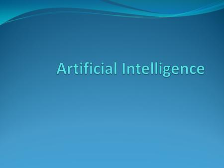 "What is AI? Intelligence: ""ability to learn, understand and think"". AI is the study of how to make computers make things which at the moment people do."