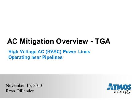 AC Mitigation Overview - TGA