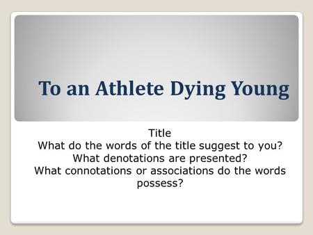 being an athlete essay