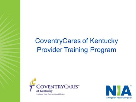 CoventryCares of Kentucky Provider Training Program