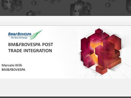 BM&FBOVESPA POST TRADE INTEGRATION