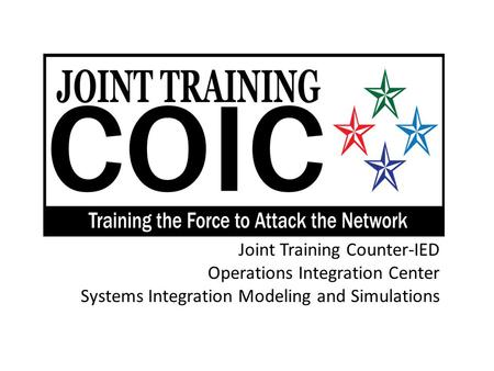 Joint Training Counter-IED