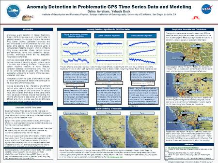 Anomaly Detection in Problematic GPS Time Series Data and Modeling Dafna Avraham, Yehuda Bock Institute of Geophysics and Planetary Physics, Scripps Institution.
