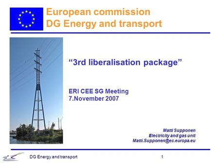 European commission DG Energy and transport