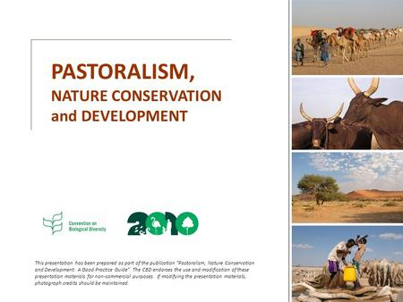 PASTORALISM, NATURE <strong>CONSERVATION</strong> and DEVELOPMENT