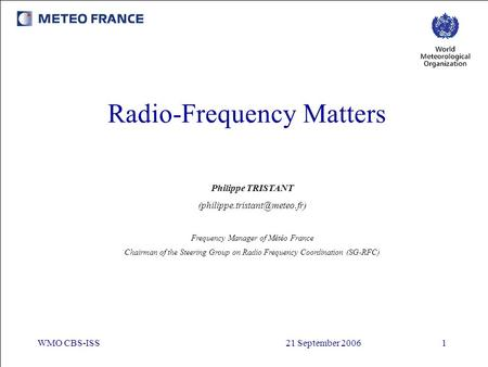 Radio-Frequency Matters