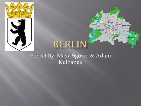 Project By: Maya Sgovio & Adam Kulhanek.  Professionally, Berlin has 3 volleyball teams, one basketball team, and one American football team, and 3 main.