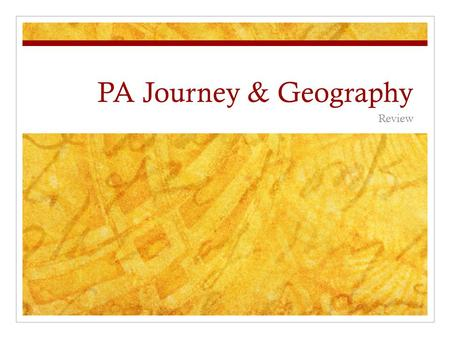 PA Journey & Geography Review. What made the railway system obsolete? A. Canals B. Steamboats C. Automobile.