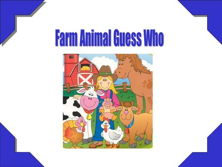 Farm Animal Guess Who.