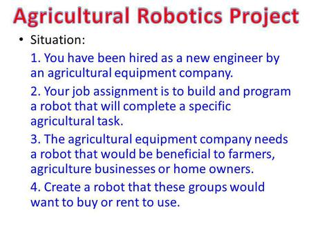 Agricultural Robotics Project