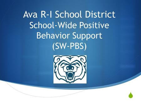  Ava R-I School District School-Wide Positive Behavior Support (SW-PBS)