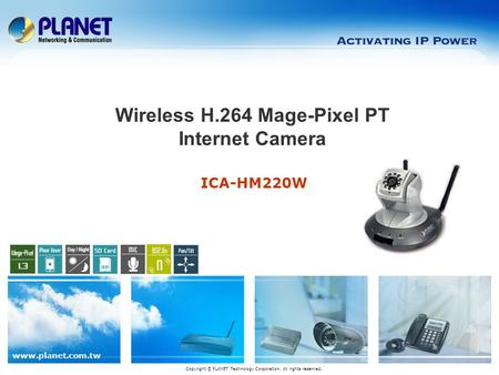 Wireless H.264 Mage-Pixel PT Internet Camera