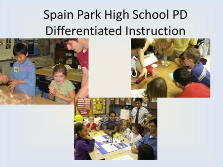 Spain Park High School PD Differentiated Instruction.