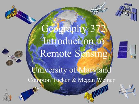 Introduction to the University of Maryland