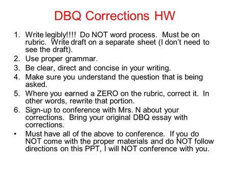 dbq essay thesis statement