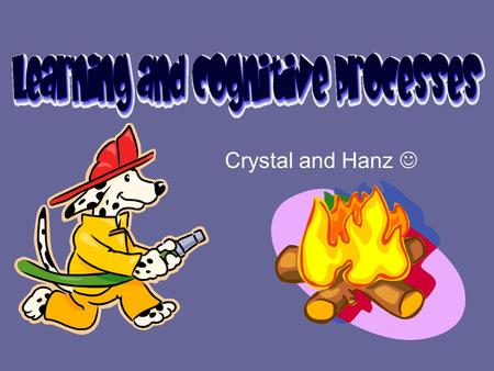 Crystal and Hanz Learning: Principles and Applications Social Learning –Form of learning in which the organism observes and imitate the behavior of others.