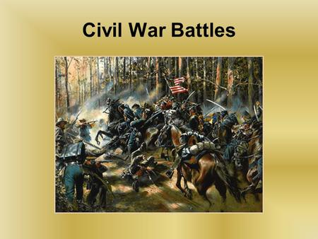 Civil War Battles. Goals: To be able to identify the major battles of the Civil War. Know the starting point and ending point of the Civil War.