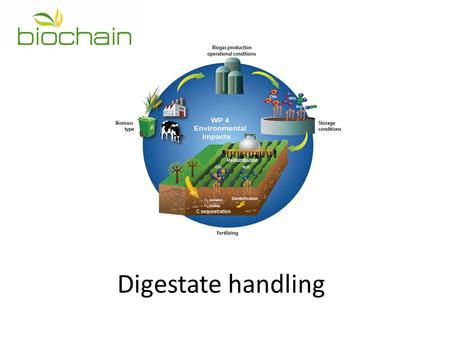 Digestate handling. Logistics of biomass for biogas Co-substrates.