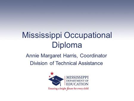 Mississippi Occupational Diploma