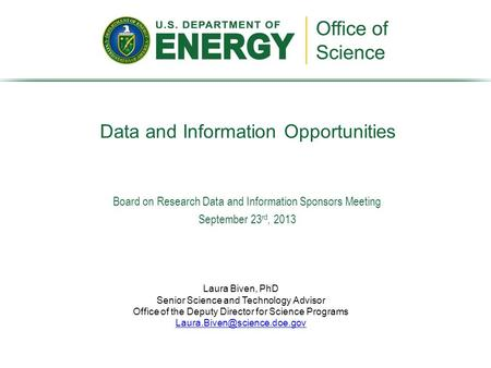 Data and Information Opportunities