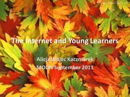 The Internet and Young Learners Alicja Wujec Kaczmarek MODN September 2011.